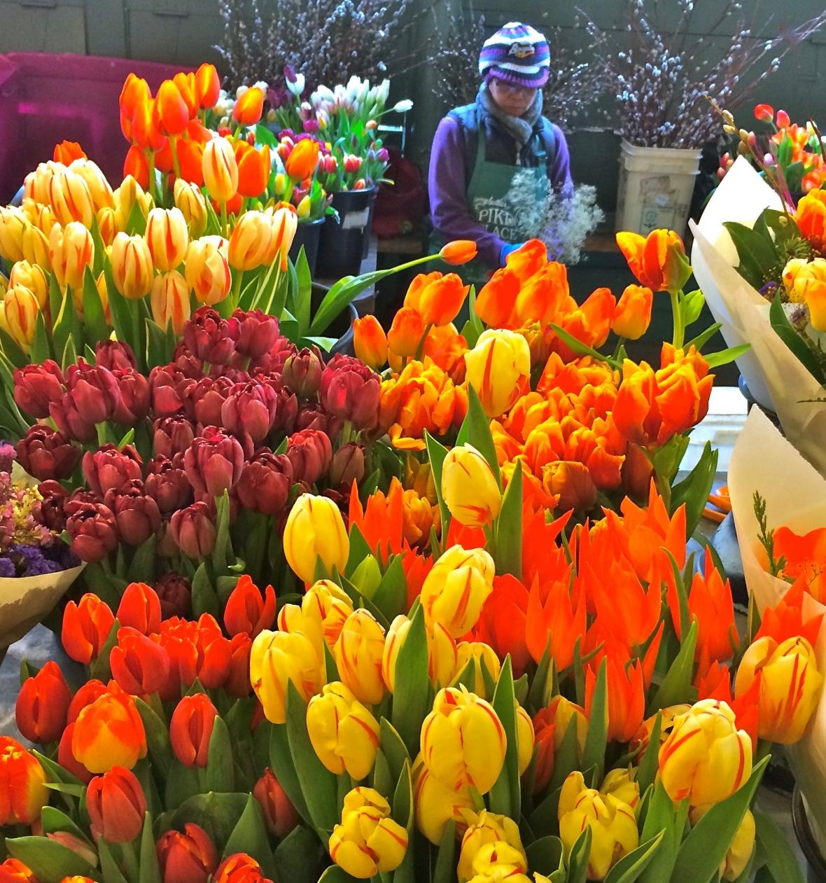 tulips-lady