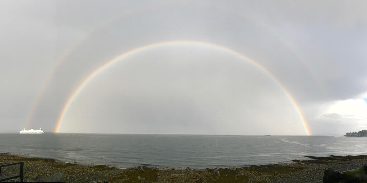 rainbow double ferry under