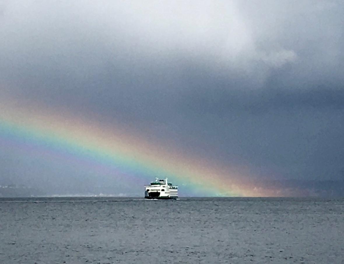 rainbow part ferry close up