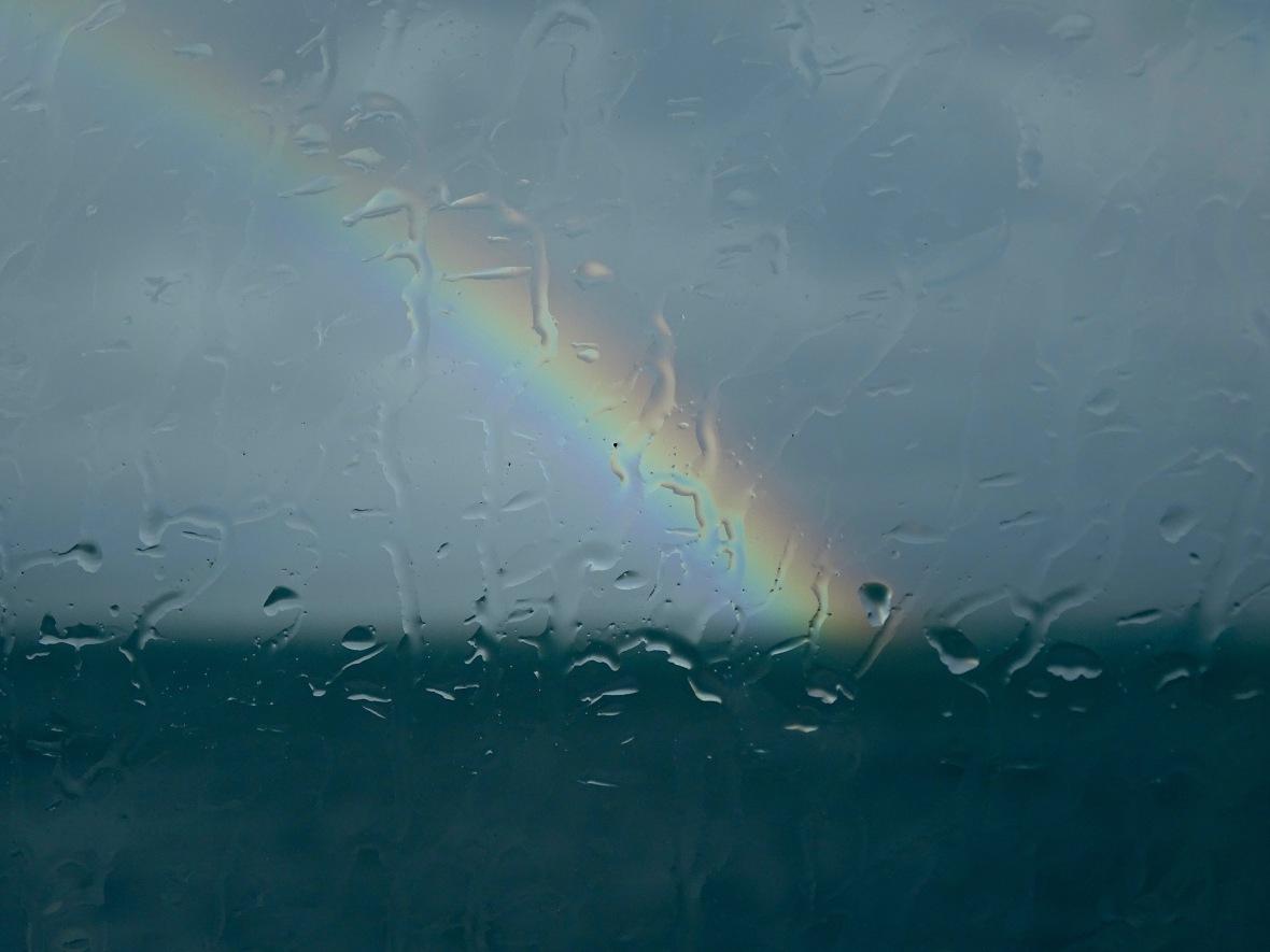 rainbow thru window